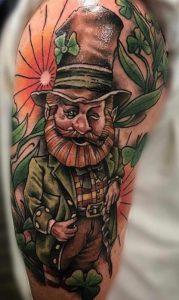 Neo-traditional Leprechaun Tattoo