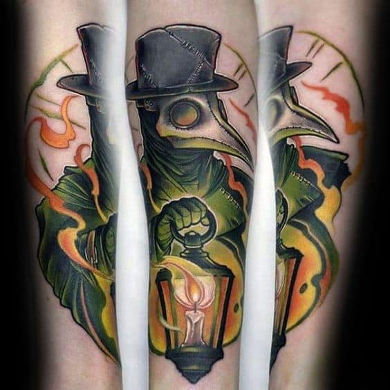 Neo-traditional Plague Doctor Tattoo