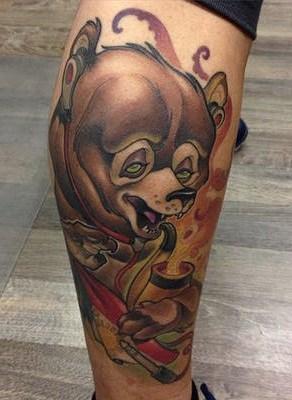 New School Bear Tattoo