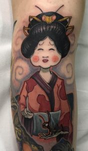 New School Geisha Tattoo