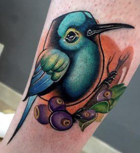 New School Hummingbird Tattoo