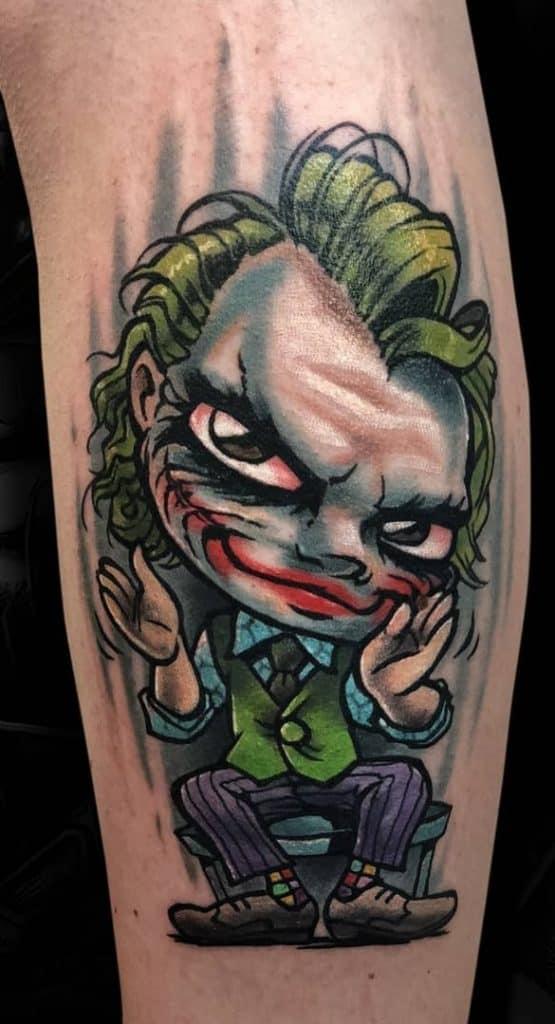 New School Joker Tattoo
