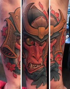 New School Kabuto Tattoo