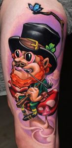 New School Leprechaun Tattoo