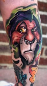 New School Lion Tattoo