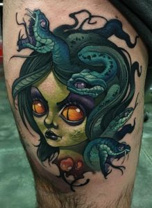 New School Medusa Tattoo