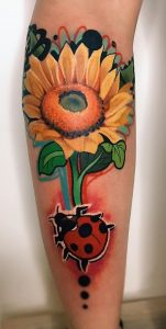 New School Sunflower Tattoo