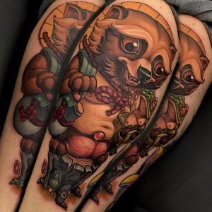 New School Tanuki Tattoo