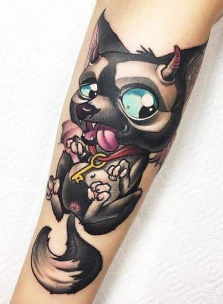 New School Wolf Tattoo