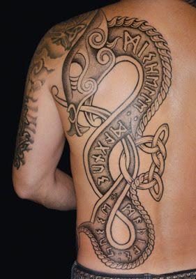 Norse Ouroboros Tattoo