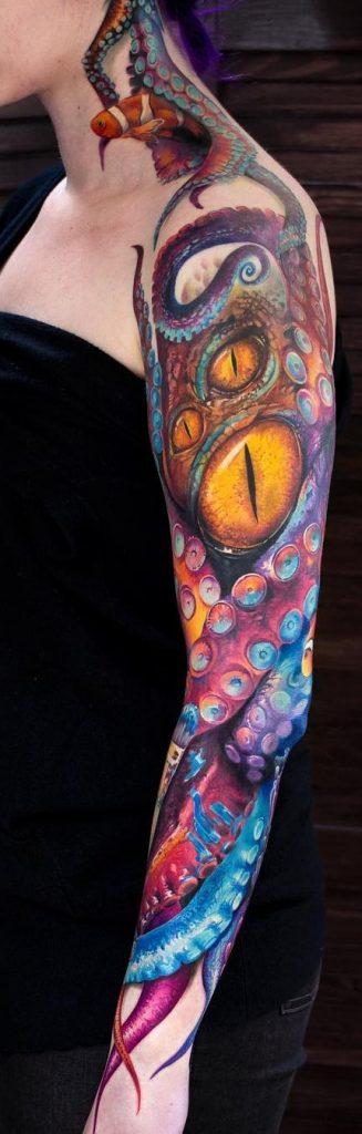 Octopus Tattoo Sleeve