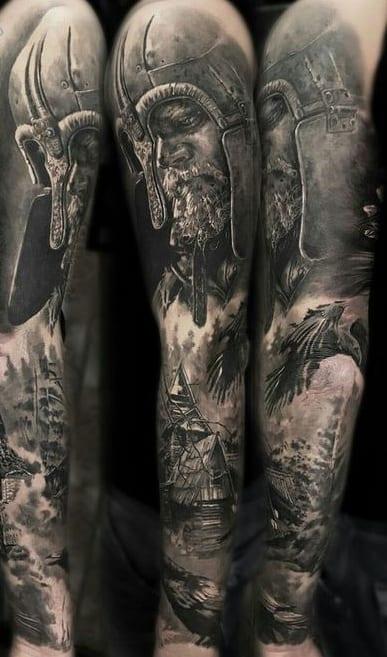 Odin Tattoo Sleeve