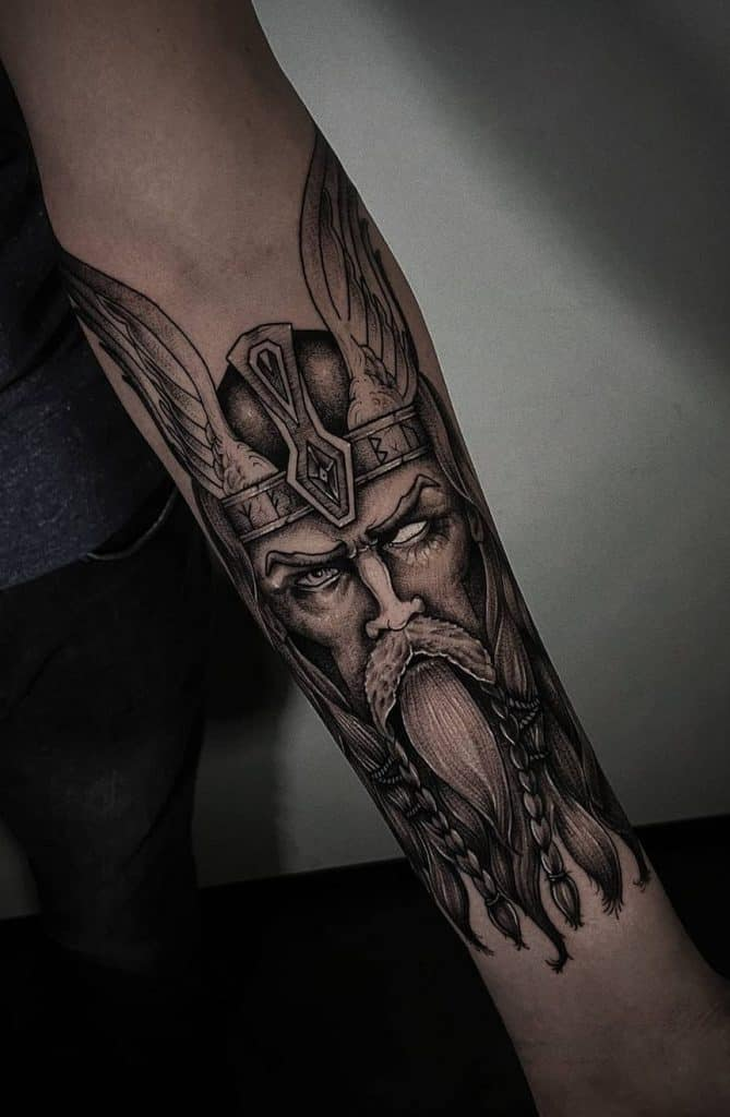 Odin Tattoo on Forearm