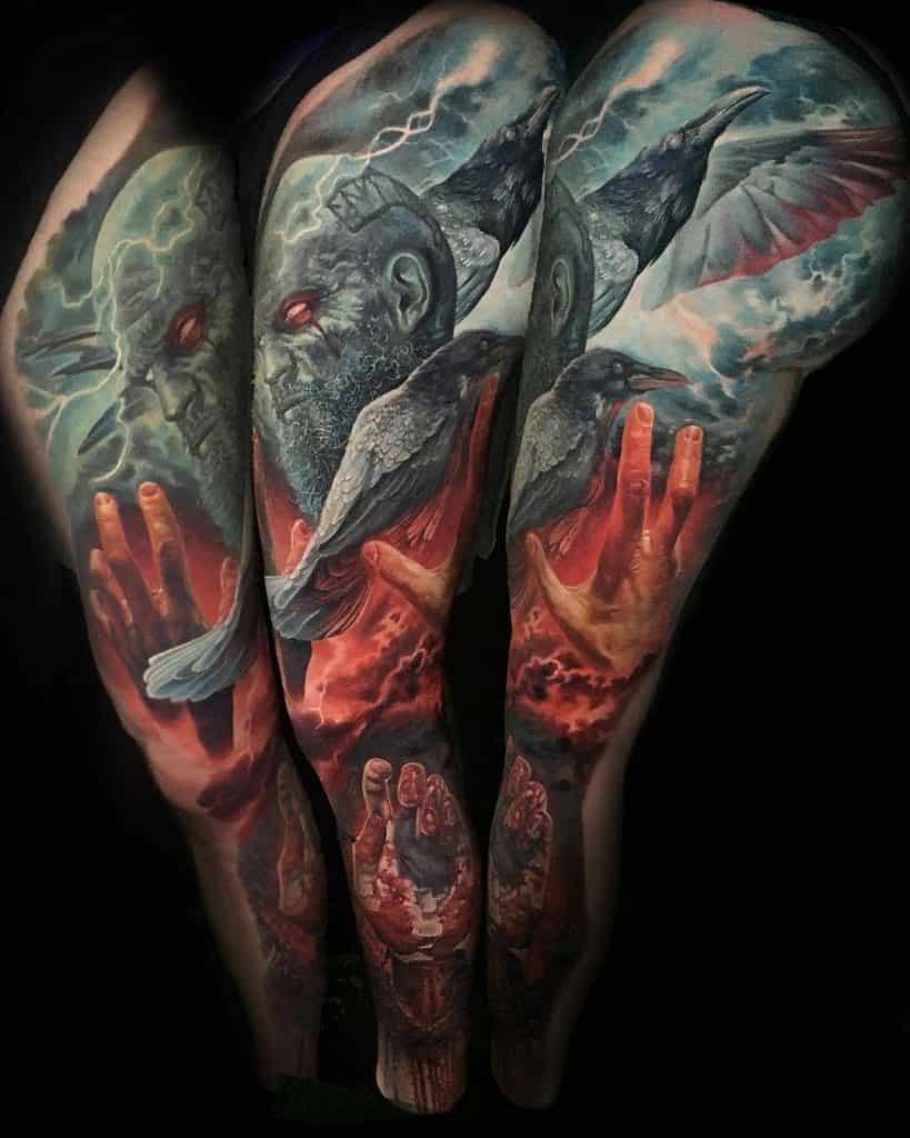 Odin's Raven Tattoo
