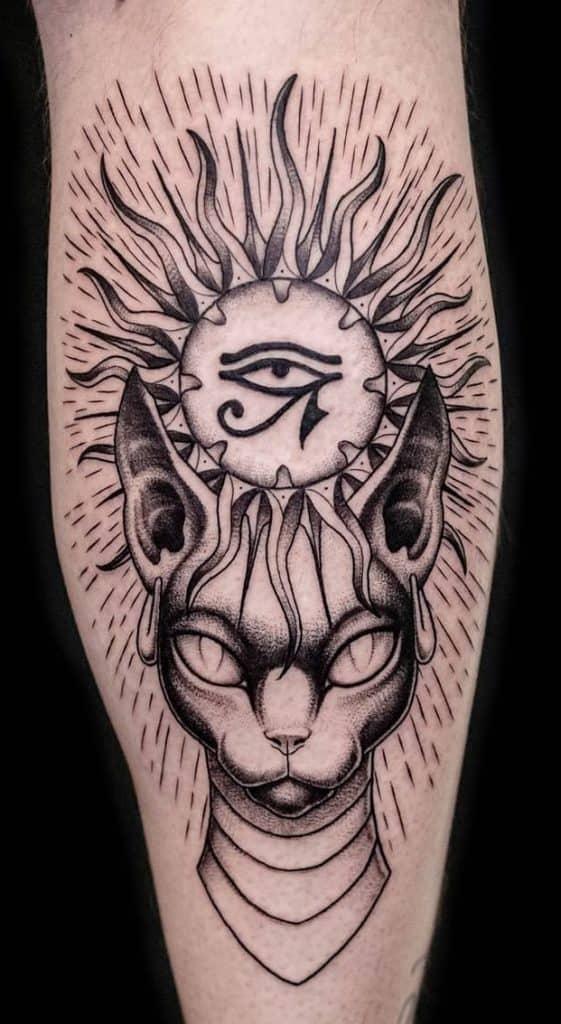 Ornamental Bastet Tattoo