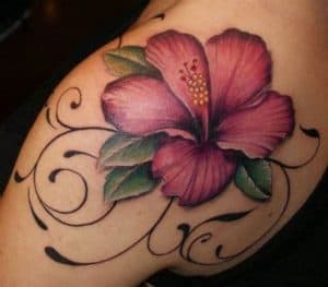 Ornamental Hibiscus Tattoo
