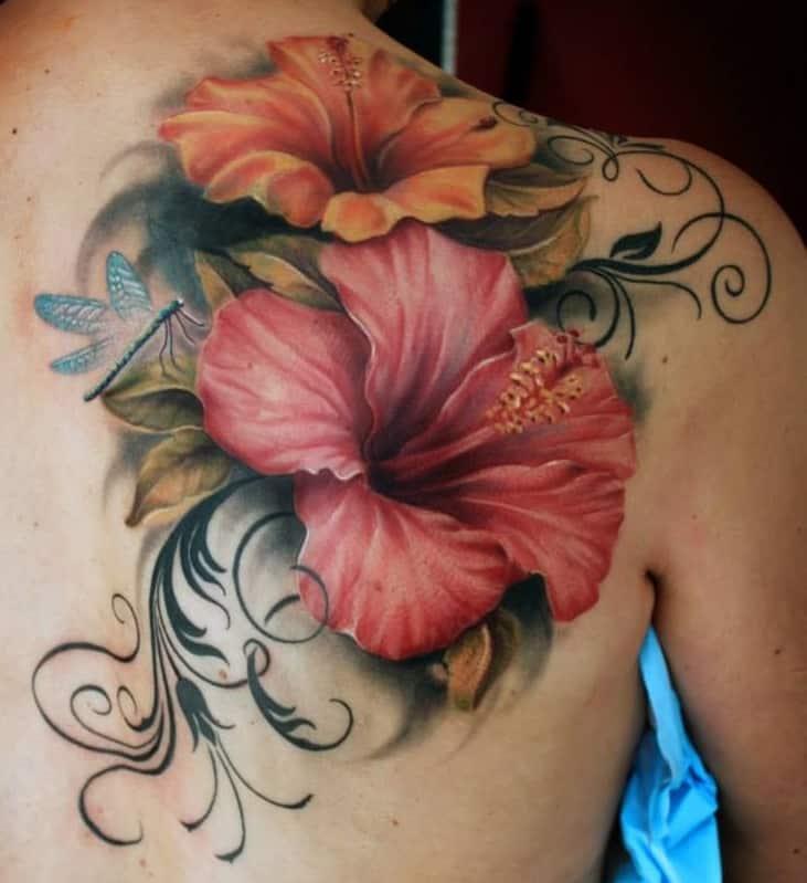Ornamental Hibiscus Tattoo