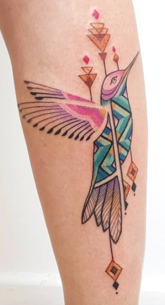 Ornamental Hummingbird Tattoo