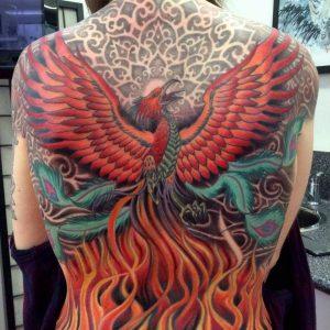 Ornamental Phoenix Tattoo
