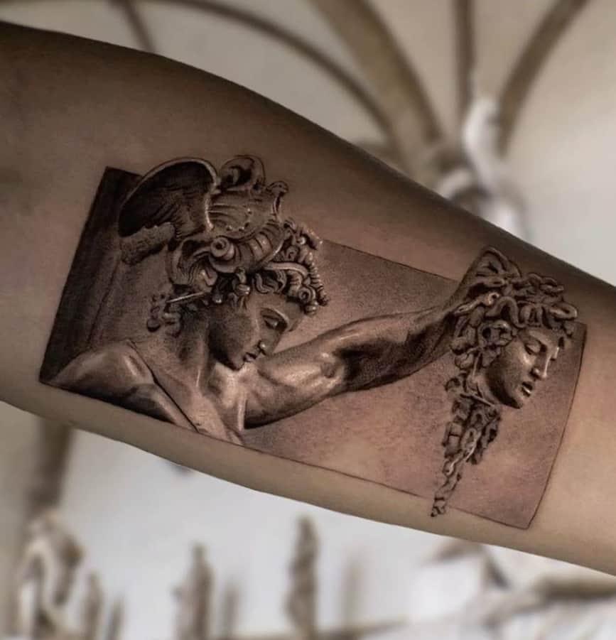 Perseus and Medusa Tattoo
