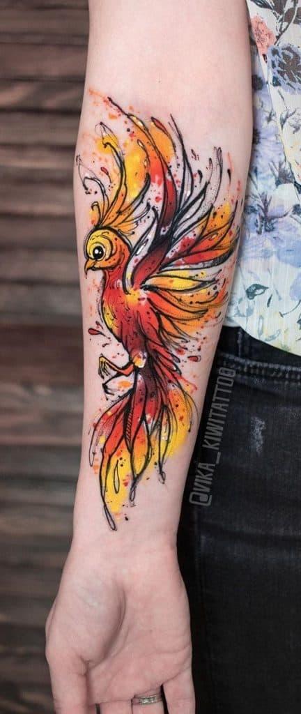 Phoenix Tattoo on Forearm