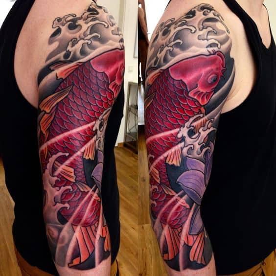 Pink Koi Fish Tattoo