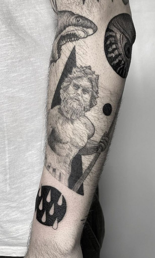 Poseidon Forearm Tattoo