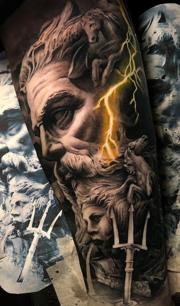 Poseidon Tattoos Meanings Tattoo Styles More