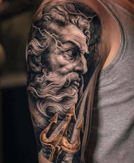 Poseidon Trident Tattoo
