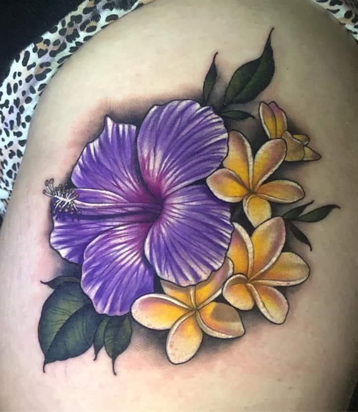 Purple Hibiscus Tattoo