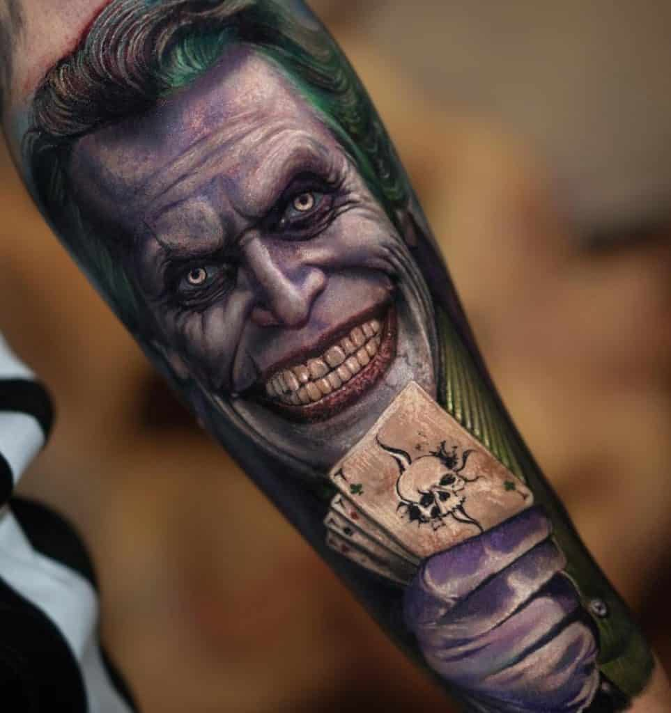 Purple Joker Tattoo