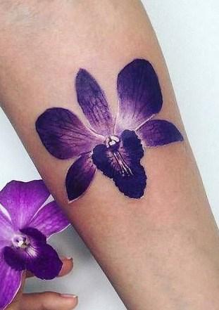 Purple Orchid Tattoo