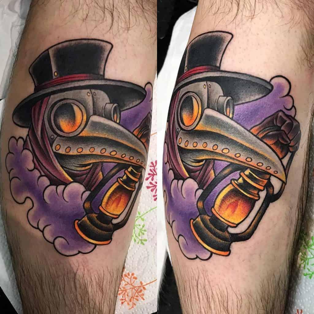 Purple Plague Doctor Tattoo
