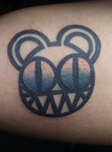 Radiohead Bear Tattoo