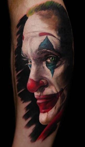 Realistic Joker Tattoo