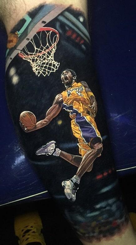 Realistic Kobe Bryant Tattoo