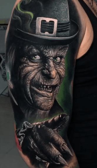 Realistic Leprechaun Tattoo