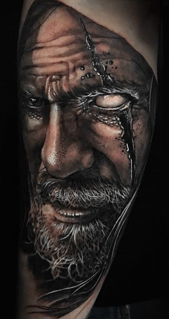 Realistic Odin Tattoo