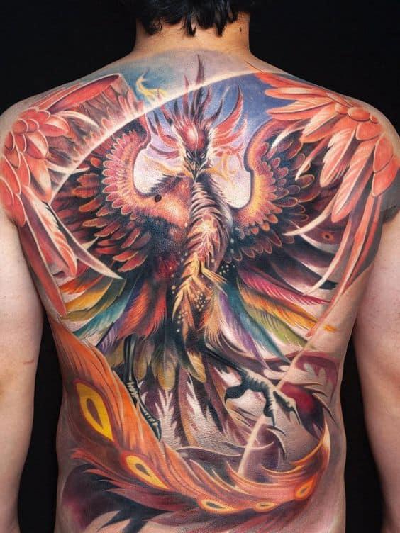 Realistic Phoenix Tattoo