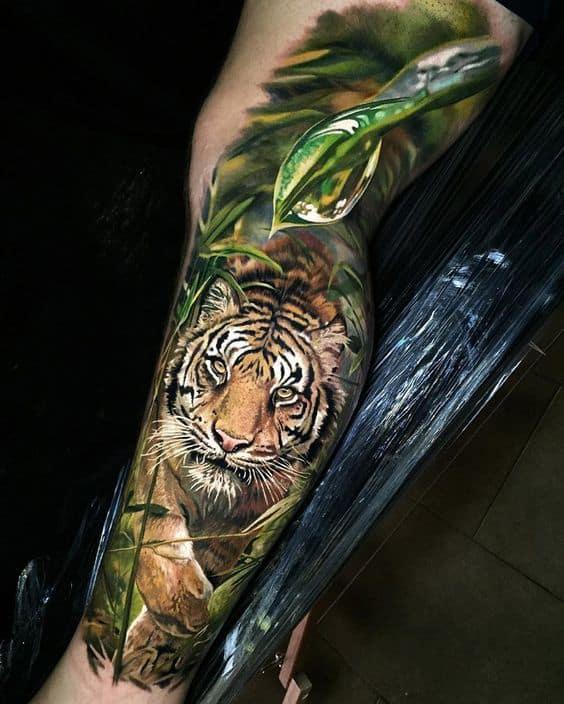 Realistic Tiger Tattoo