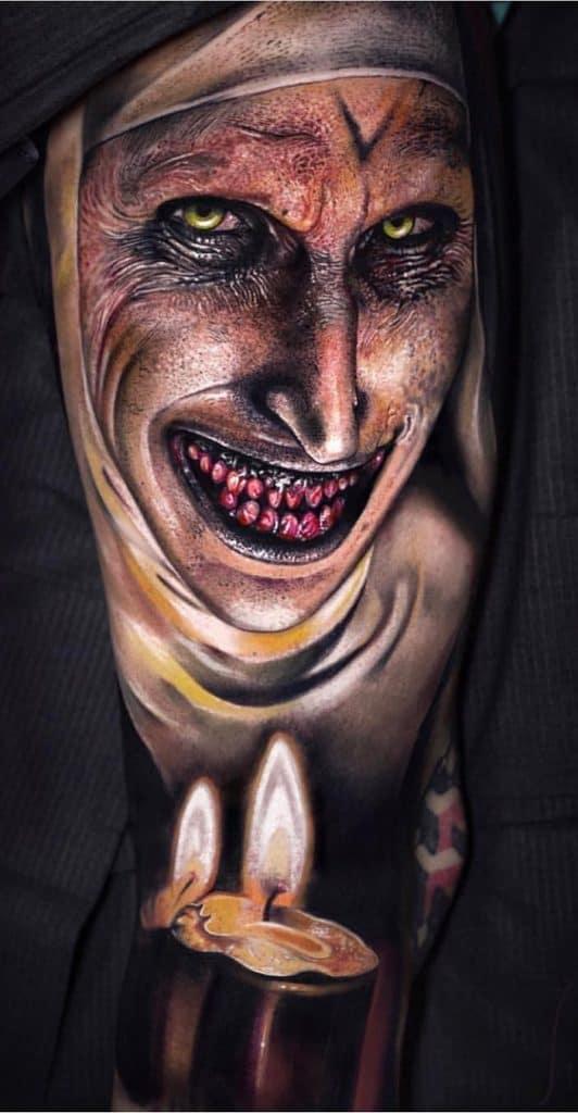 Realistic Valak Tattoo
