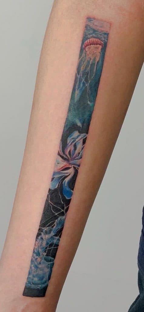 Rectangular Jellyfish Tattoo