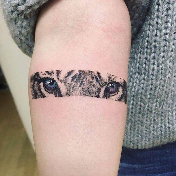 Rectangular Tiger Tattoo