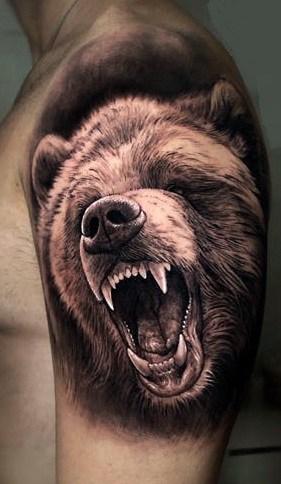 Roaring Bear Tattoo