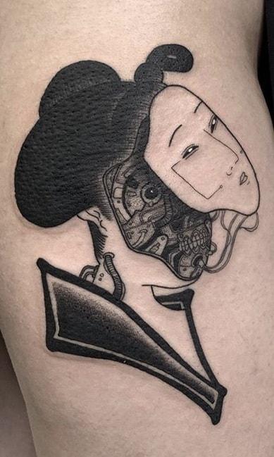 Robotic Geisha Tattoo