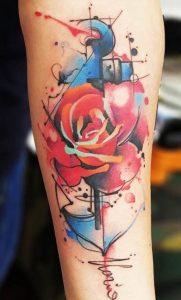 Rose & Anchor Tattoo