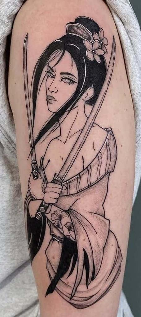 Samurai Geisha Tattoo