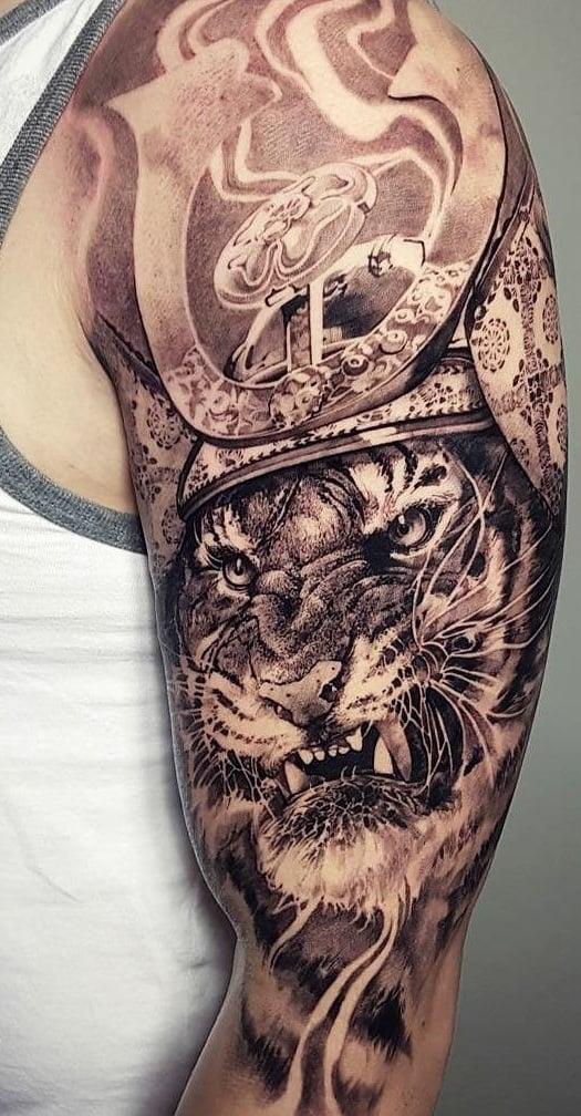 Samurai Tiger Tattoo