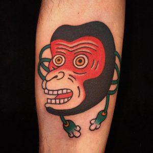 Saru Mask Tattoo