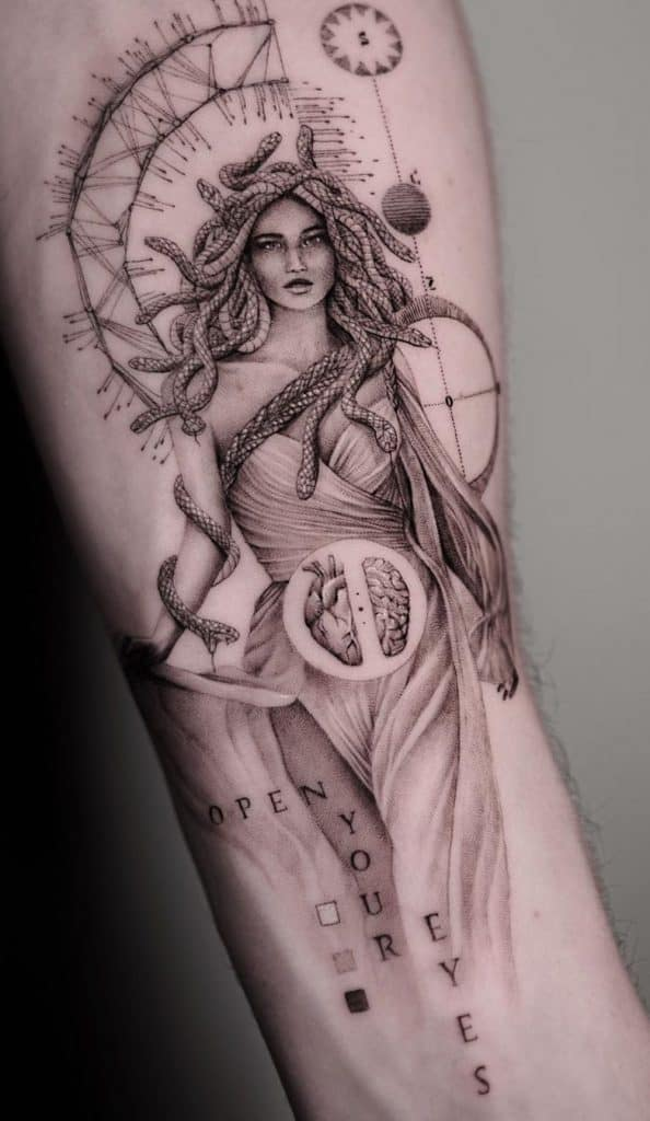 Sensual Medusa Tattoo